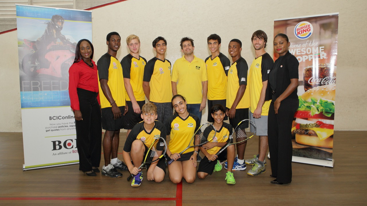 Burger King & BCIC Sponsor Junior Squash Team to Caribbean Champs