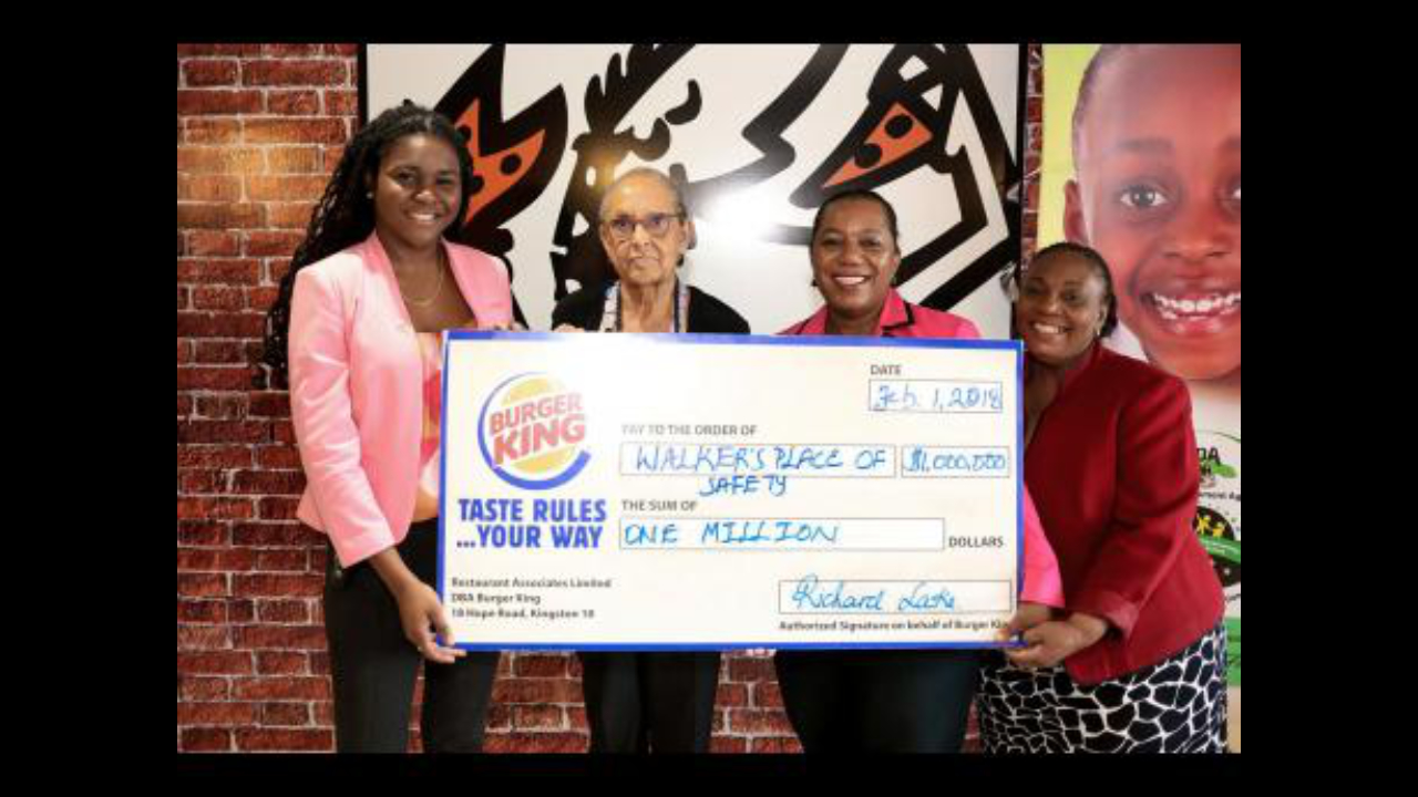 Burger King Donates To Walker's Place Of Safety